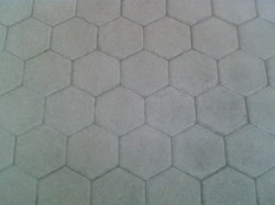 Pav� hexagonal